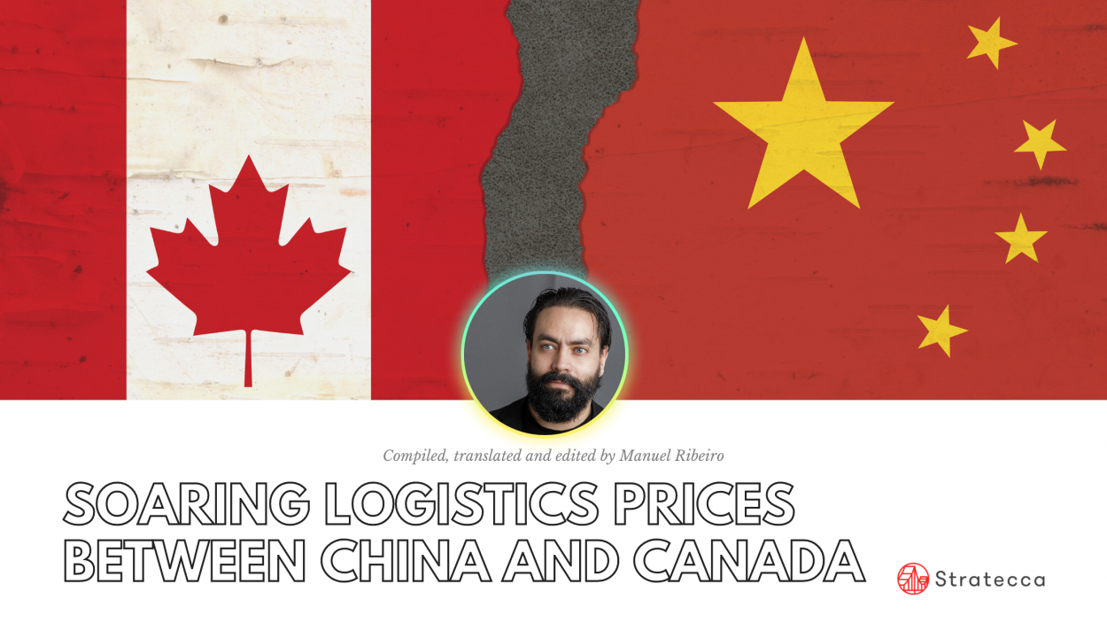 Soaring logistics prices between china and canada